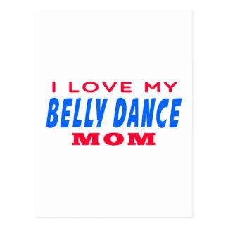 Eu amo minha mamã da dança do ventre cartão postal