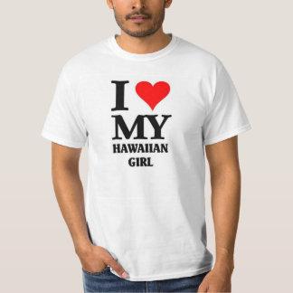 Eu amo minha menina havaiana camiseta