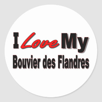 Eu amo minha mercadoria do DES Flandres de Bouvier Adesivo