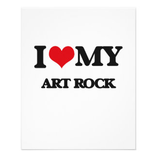 Eu amo minha ROCHA da ARTE Panfleto Personalizados