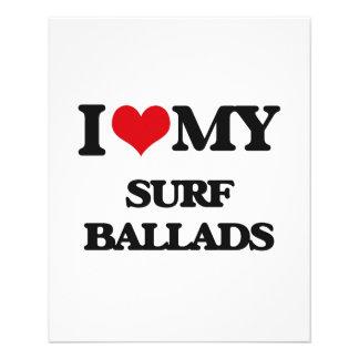 Eu amo minhas BALADAS do SURF Panfletos Personalizados