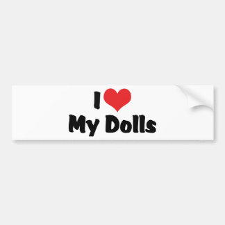 Eu amo minhas bonecas adesivo