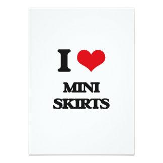 Eu amo mini saias convites