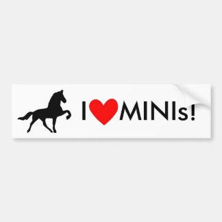 Eu amo MINIs! Adesivo Para Carro