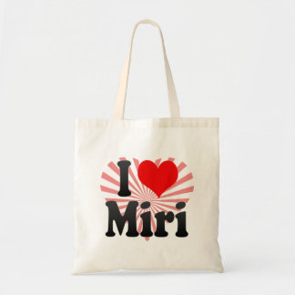 Eu amo Miri, Malaysia Bolsa Tote