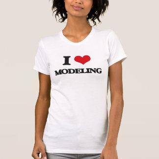Eu amo modelar tshirt