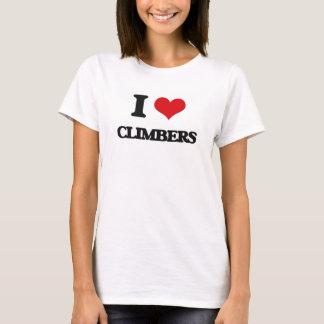 Eu amo montanhistas camiseta