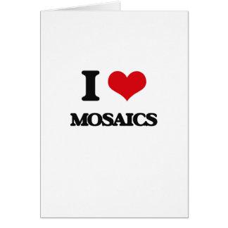 Eu amo mosaicos cartões