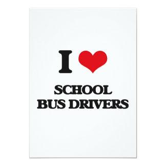 Eu amo motoristas de auto escolar convite 12.7 x 17.78cm