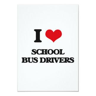Eu amo motoristas de auto escolar convite 8.89 x 12.7cm
