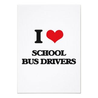 Eu amo motoristas de auto escolar convites
