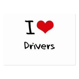 Eu amo motoristas modelo cartao de visita