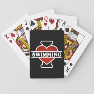 Eu amo nadar jogo de baralho