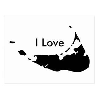 Eu amo Nantucket no cartão PRETO