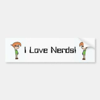 Eu amo nerd! adesivo para carro