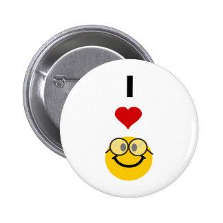 Eu amo nerd boton