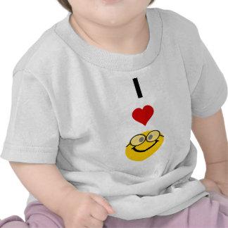 Eu amo nerd camiseta