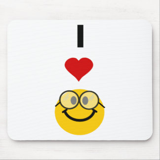 Eu amo nerd mouse pad
