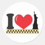 Eu amo New York Adesivo Redondo