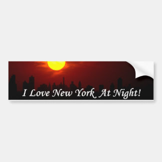 Eu amo New York na noite! autocolante no vidro tra Adesivo Para Carro