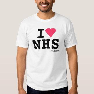 Eu amo NHS ii Camisetas