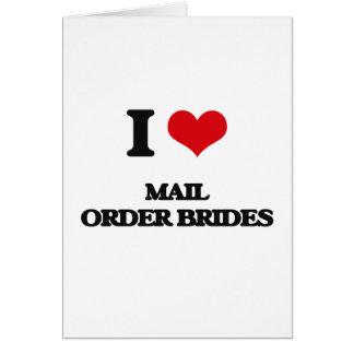 Eu amo noivas das vendas por catálogo cartao
