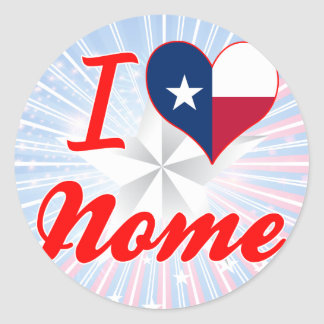 Eu amo Nome, Texas Adesivo Redondo