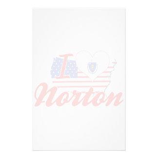 Eu amo Norton, Massachusetts Papel Personalizados