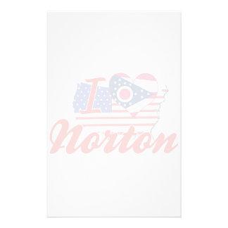 Eu amo Norton, Ohio Papel Personalizado