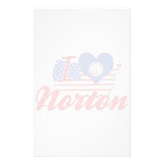 Eu amo Norton, Virgínia Papel Personalizado