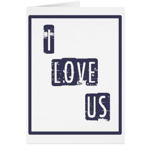 Eu amo-nos cartão