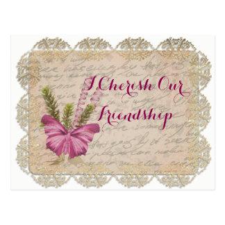 Eu amo nossa amizade cartão postal