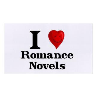 Eu amo novelas romances cartão de visita