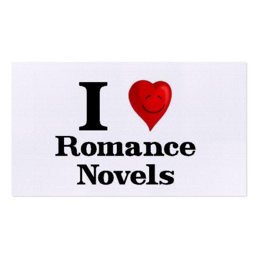 Eu amo novelas romances modelos cartão de visita