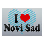 Eu amo Novi Sad, Serbia Pôsteres