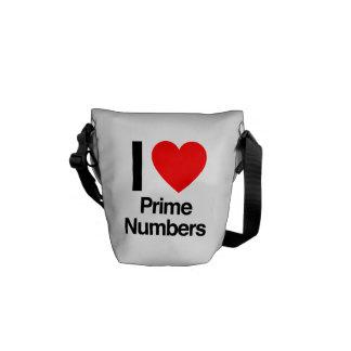 eu amo números principais bolsa mensageiro