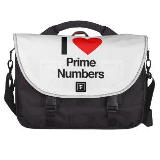eu amo números principais bolsas para computadores portáteis