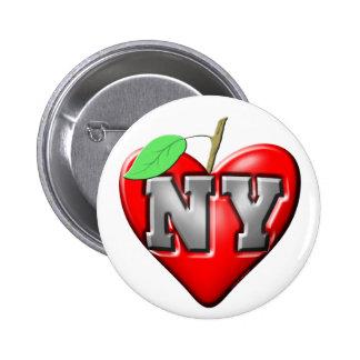 Eu amo NY Pins