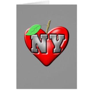 Eu amo NY Cartão De Nota