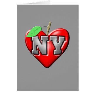 Eu amo NY Cartão Comemorativo