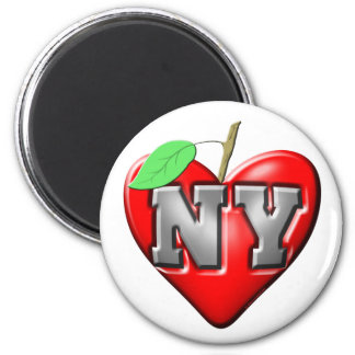 Eu amo NY Ímã Redondo 5.08cm