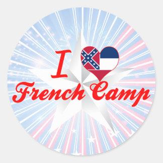 Eu amo o acampamento francês, Mississippi Adesivos Em Formato Redondos
