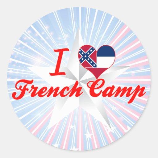 Eu amo o acampamento francês, Mississippi Adesivos