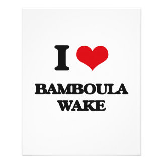 Eu amo o ACORDAR de BAMBOULA Modelo De Panfletos