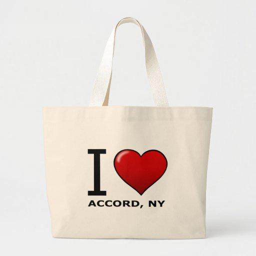 Eu amo o acordo, NY Bolsas Para Compras