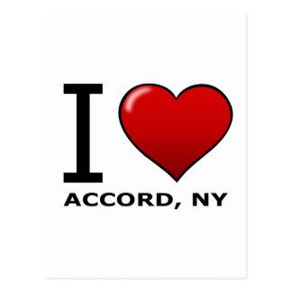 Eu amo o acordo, NY Cartão Postal