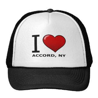 Eu amo o acordo, NY Boné