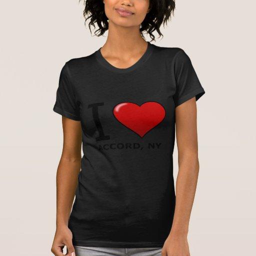 Eu amo o acordo, NY T-shirts