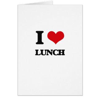 Eu amo o almoço cartão