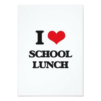 Eu amo o almoço escolar convite 12.7 x 17.78cm